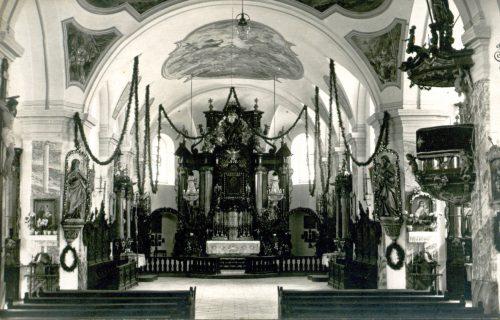 9 gelöst 12 07 16 Kreuzbergkirche b Schwandorf vor 1945